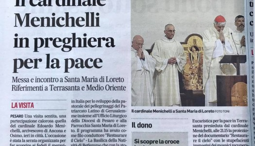 Corriere Adriatico – Il Cardinale Menichelli in preghiera per la pace